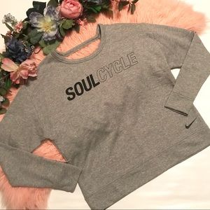 Soulcycle x Nike Open Back Sweatshirt